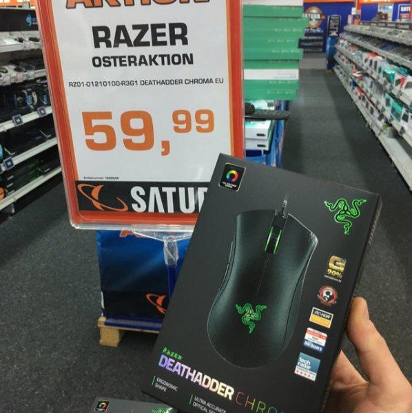 [Lokal Darmstadt] Razer Deathadder Chroma für 59,99€ @ Saturn Darmstadt