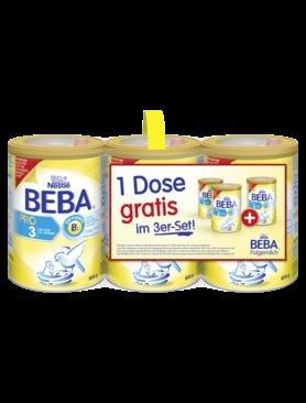 Nestlé BEBA PRO 3 - Babynahrung 3x800g - ab 8,65Euro (bei 9Stück Abnahme)