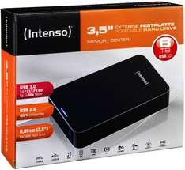 [Ebay] Intenso Externe Festplatte 8.9 cm (3.5 ) 8 TB Memory Center Schwarz USB 3.0  für 219,90€ Versandkostenfrei