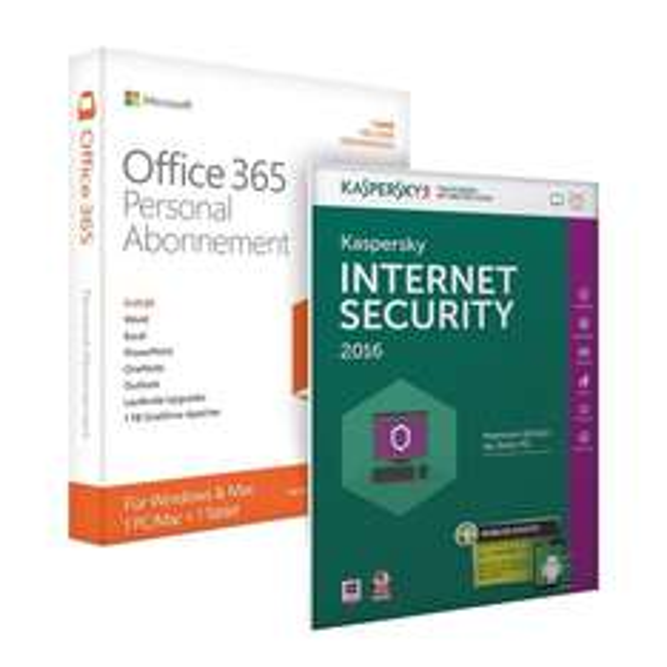 [ notebooksbilliger ] Microsoft Office 365 Personal inkl. Kaspersky Internet Security 2016 [1 Gerät - 1 Jahr - Vollversion]