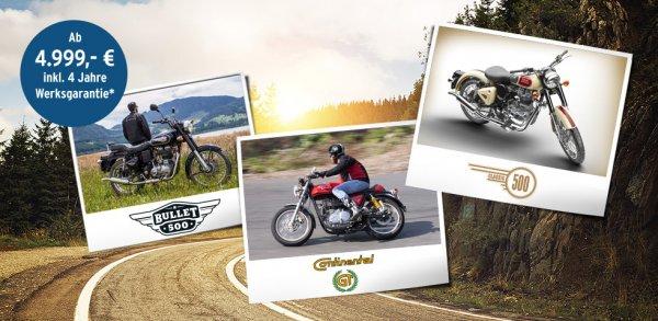 Royal Enfield Motorräder bei Tchibo