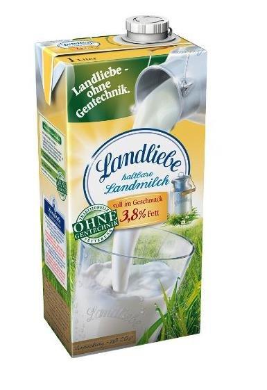 [Amazon Osterangebote] Blitzangebot (bis 15h) Landliebe haltbare Landmilch, 3,8 % Fett, 6er Pack (6 x 1 l) für 5,99€ statt 8,99€