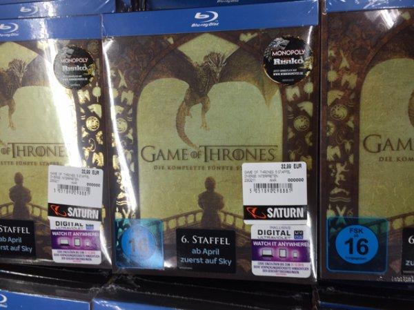 [lokal Berlin] Saturn Alexanderplatz Game of Thrones 5. Staffel (Blu Ray) für 32,99€ [2 Tage vor Release]