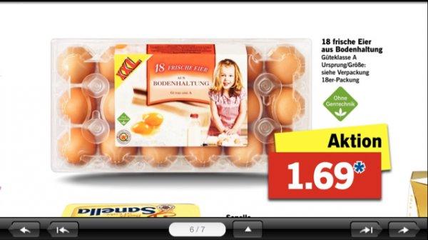 (Lidl Berlin) Ostern kann kommen! Eier satt 18 Eier in einer Pkg.