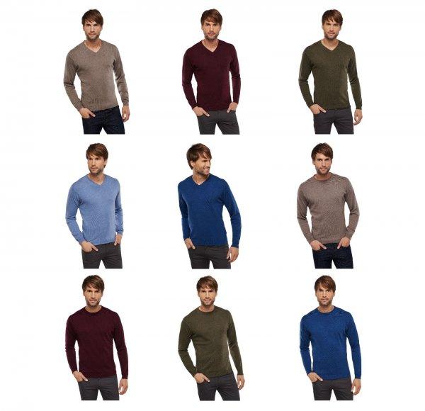 [ eBay wow ] Schiesser Herren Pullover V-Neck / Rundhals mit Kaschmir-Anteil in versch Farben