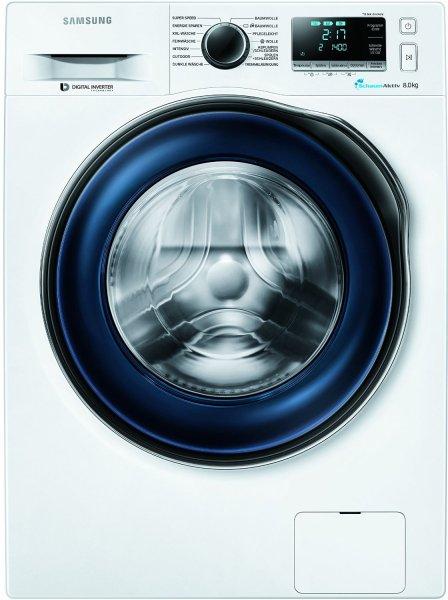 [Amazon] Angebot des Tages: Samsung WW80J6400CWEG Waschmaschine, A+++, Frontlader, 1400 UpM, 8 kg, SchaumAktiv, Trommelreinigung für 449€ inkl. Versand - Amazon WHD ab 367,56€