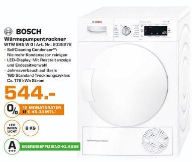 [Saturn Hildesheim] BOSCH WTW845W0 A+++ 8 kg Wärmepumpentrockner