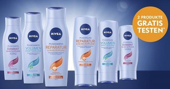 2 x NIVEA Haarpflegeprodukte (Shampoo, Spülung, Kur) kaufen und Geld zurückerstattet bekommen