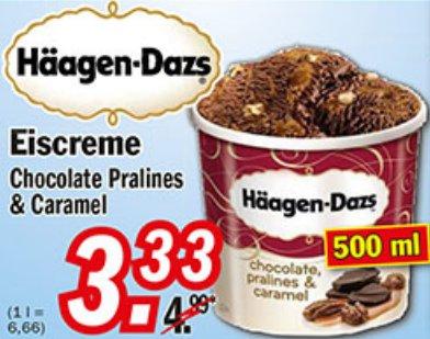 [ZIMMERMANN] Häagen Dazs Chocolate Pralines & Caramel 500ml für 3,33€