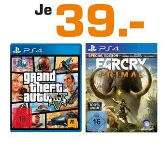 [ Lokal Saturn Erlangen] Far Cry Primal Special Edition PS4 und GTA5  PS4  für je 39,-€