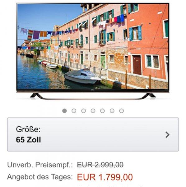 Amazon LG 65uf8609 für 1799€