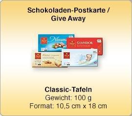 (Schokogramm) Gratis 100g Schweizer Schokolade Tafel (Nur Gewerbetreibende)
