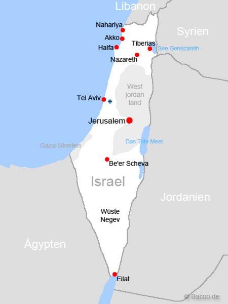 Karte Israel Din A2