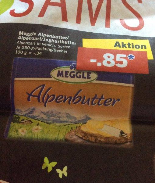 (Lidl)Meggle Alpenbutter/Alpenzart/Joghurtbutter für 0,85€ anstatt 1,79€