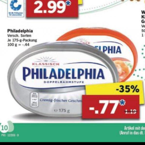 [LIDL] Philadelphia 175g verschiedene Sorten ab Mittwoch 23.3