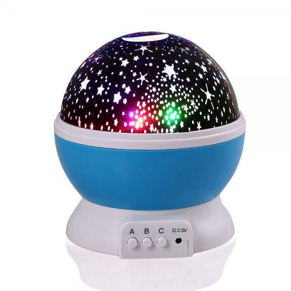 [Amazon-Prime]  lederTEK, LED Baby Nachtlicht mit USB Kabel Batteriebetrieben Sternenhimmel Sternhimmel 4 LED 360 Grad (blau) [Energieklasse A+] für 7,99 Euro
