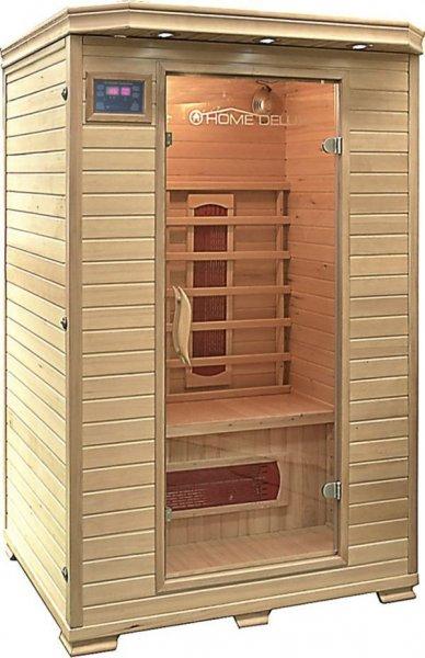 Home Deluxe RedSun M Infrarotkabine Wärmekabine Sauna + FM-Radio/MP3-Funktion