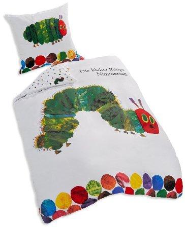 Die kleine Raupe Nimmersatt: 1 × Kopfkissenbezug 80×80 cm + 1 × Bettbezug 135×200 cm für 19,99 € [Amazon Prime]