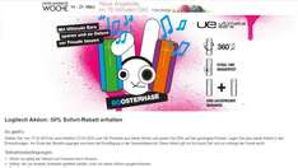 Logitech UE-Aktion zu Ostern: 50% Sofort-Rabatt auf den zweiten UE Artikel erhalten