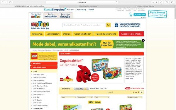 Zugabeaktion auf LEGO DUPLO bei mytoys.de, Lego Duplo Plüschhase