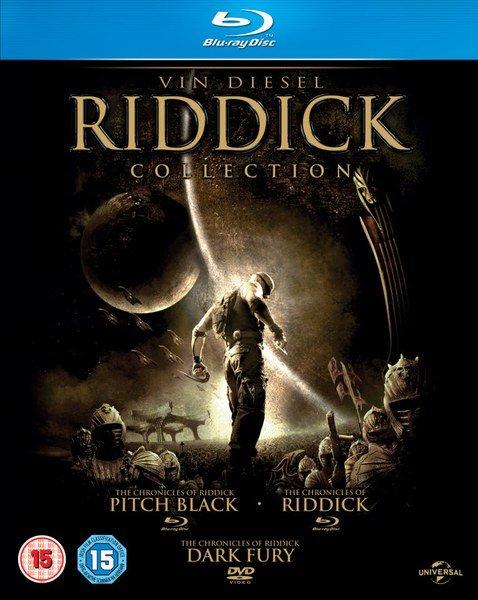 [Zavvi] Riddick Collection: Pitch Black + Riddick: Krieger der Finsternis + Riddick: Chroniken eines Kriegers (2x Bluray + 1x DVD, dt. Tonspur) für 10,18€