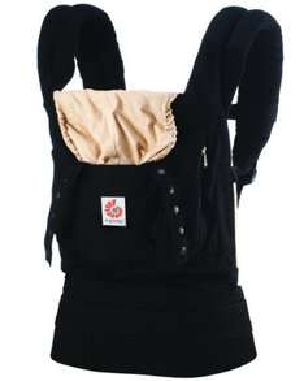 [Amazon Blitzangebot] Ergobaby Babytrage Kollektion Original (5,5 - 20 kg), Schwarz/Camel für 70,99 statt ca. 82€