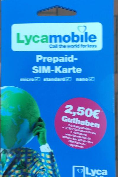 [Lokal Dortmund HBF ] Gratis Lyca Prepaid Karte mit 2,50€