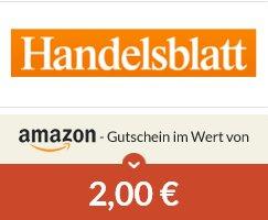 3 Monate kostenlos Handelsblatt (Digital) + 2€ Amazon Gutschein von [Spartanien]