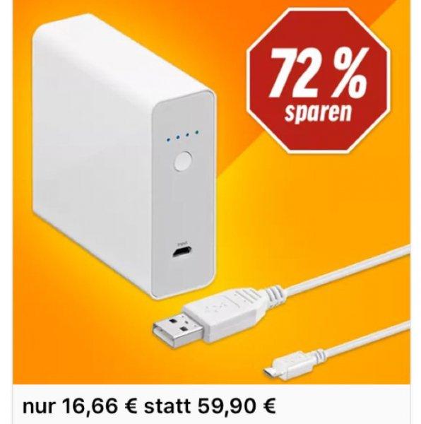 Goobay PowerBank 11.0 ,leistungsstarke fünffach-USB [NBB]