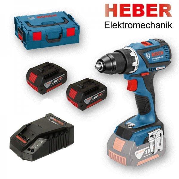 Bosch GSR 18 V-EC Professional 2 x 4.0 Ah + L-Boxx (0 601 9E8 101) für 220€