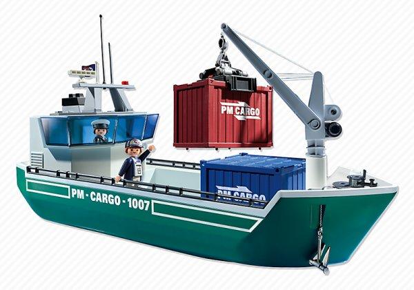 Playmobil 5253 Frachtschiff mit Verladekran - 29,99 EUR @ playmobil.de