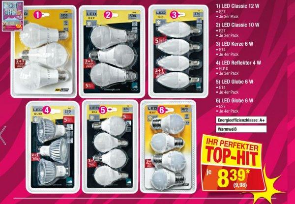 [ Metro C&C ] 3x LED Birnen 12W E27 und weitere Ausführungen