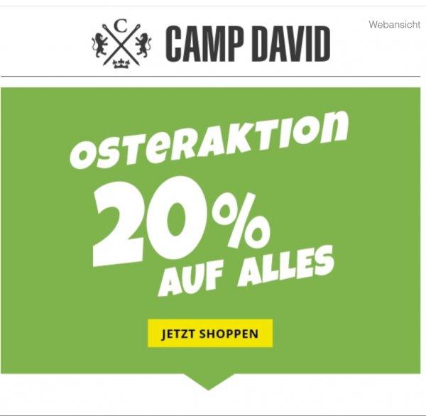 20% bei Camp David auf alles