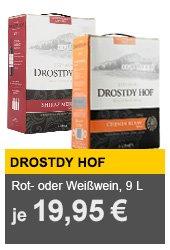 9l Weiss oder Rotwein: Drostdy Hof (Western Cape - Südafrika) für 19,99€ inkl VSK @AYN