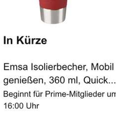 Emsa Isolierbecher 360ml bei Amazon in Rot