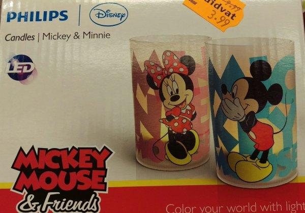 (Grenzgänger NL lokal) Philips Candle Light Set Mickey und Minnie