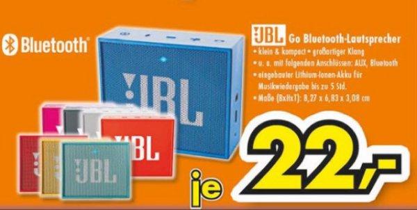 JBL GO Tragbar Bluetooth Lautsprecher, verschiedene Farben [Lokal, Gütersloh]
