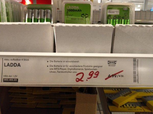 Ikea Siegen Ladda Ready To Use Akkus 4 Stück (AA)