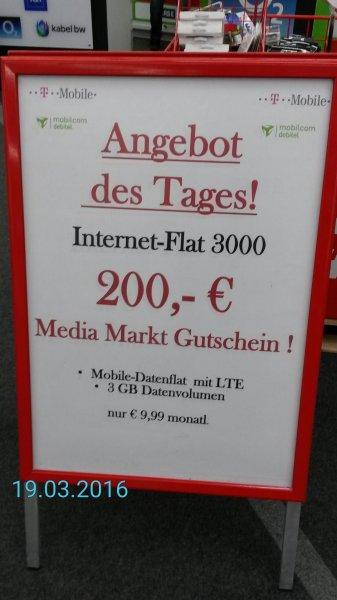 3 GB LTE-Flat von T-Mobile für effektiv 1.66€/Monat (Base)