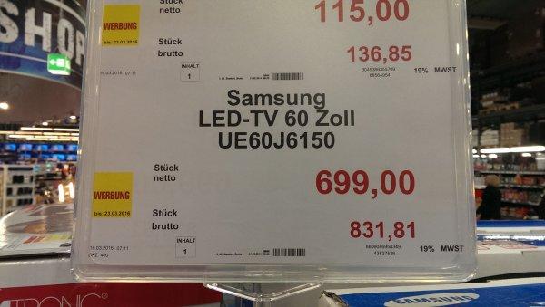 [LOKAL Mannheim] Samsung UEJ6150 für 748,63 € brutto