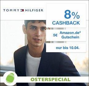 [Tommy Hilfiger Qipu-Osterspecial] 8% Cashback + 5€ Amazon.de Gutschein (ab 29€ MBW) + kostenloser Versand