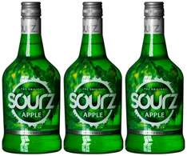 Amazon: Sourz Apple Likör (3 x 0.7 l)