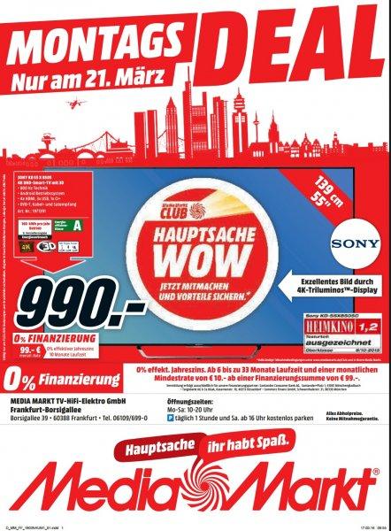 Sony 4K TV KD 55 X 8505