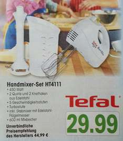 (Lokal) Tefal Handmixer-Set HT4111
