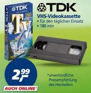 VHS-Videokassette 180 min bei REAL für 2,99€