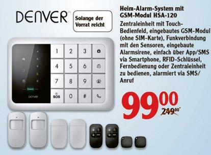 [WETZLAR] Globus: GSM-Hausalarmanlage Denver HSA-120 für nur 99€