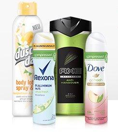 25% Frühlingsrabatt auf Beauty-Produkte von AXE, Dove, DuschDas und Rexona