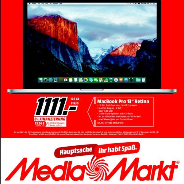 """MacBook Pro 13"""" Retina mit 128GB Flash nur in Berlin und Brandenburg und nicht Online!"""