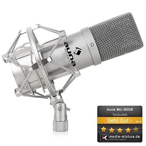 [Amazon.fr Tagesangebot] Auna MIC-900S USB Kondensator Mikrofon inkl. Spinne (silber) für 55,66 €