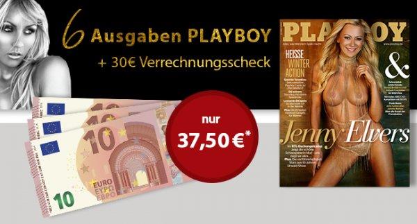 Playboy - 6 ausgaben für 7,50 durch Verrechnungsscheck